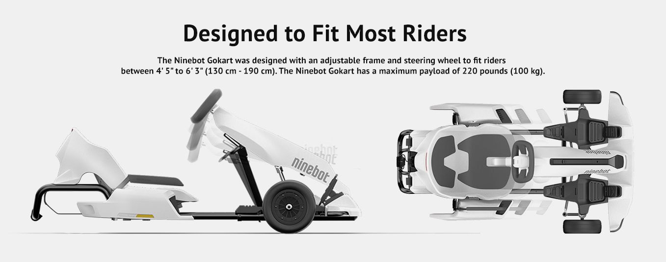 Designed to fit most riders
